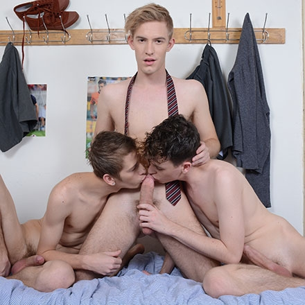 Hot, Horny Schoolboy Trio Get Top Grades In A Suck & Fuck Cum-Soaked Frenzy! HD