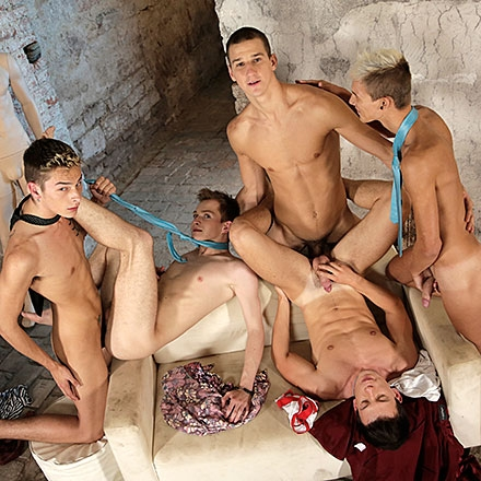 A Celebratory Gangbang Gets This Bunch Of Horny Beauties All Fucked Up & Spurting Spunk! HD