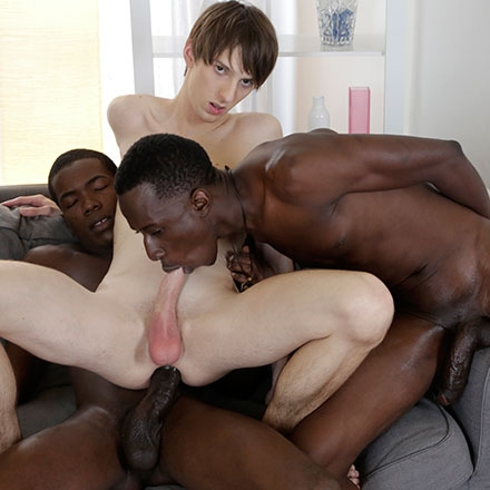 Kurt Maddox Enjoys A Black Double Penetration Courtesy Of Two Monstrous Uncut Cocks! HD