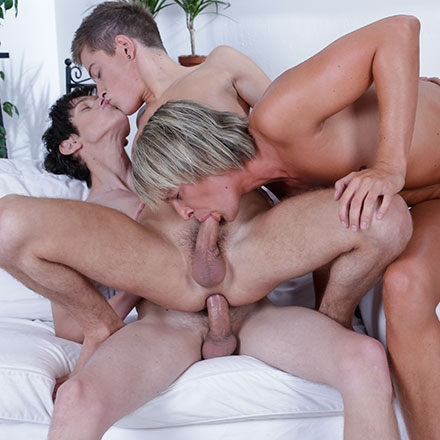 All Holes Filled In A Birthday Double-Penetration Spunk-Fest! HD