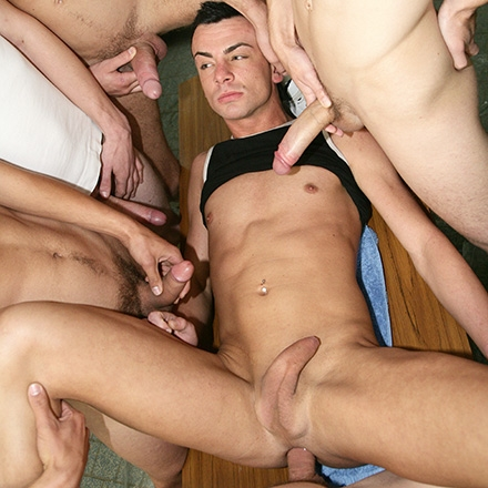 Locker room full of cum
