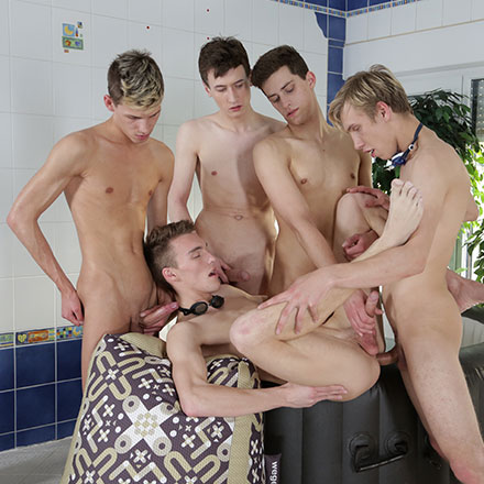 Scorchingly Hot Jacuzzi Threesome Turns Into A Five-Dicked Suck-&-Fuck-Fest! HD