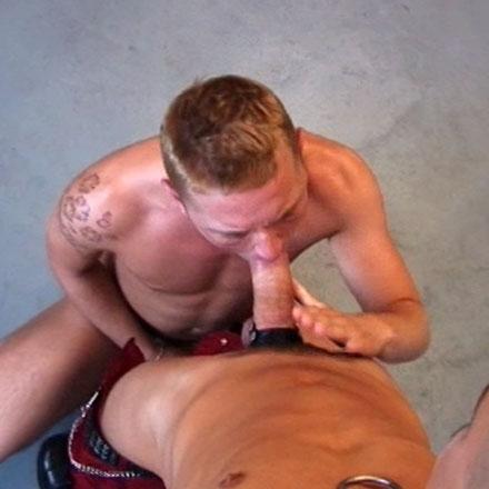 Boot licking bondage