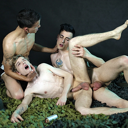 Kinky Threesome Gets This Perverse Bunch Of Twinks Shamelessly Fucking & Creaming!  HD
