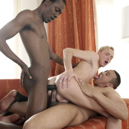 Blond Beauty Gets His Horny, Tight Fuck-Hole Interracially DP'd! (Twinks Destroyed 4 Scene #2 HD)