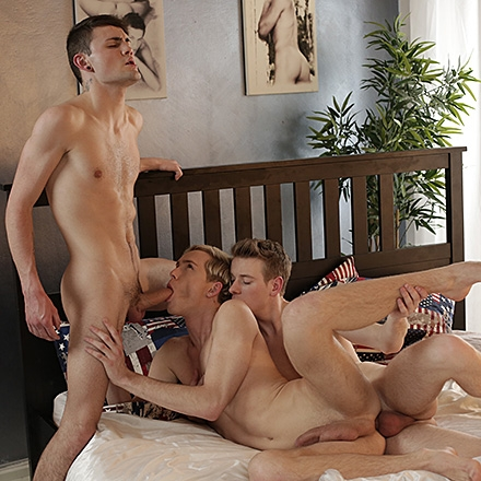 Skin Contact, Sc.4: Three Amigos Hit On A Double-Dicked, Spunk-Sodden Fuck-Fest! HD