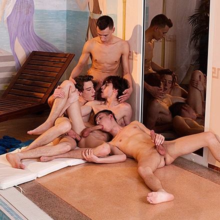 Twinks In Love, Sc.4: Filthy Pool-Boy Gets Fucked & Creamed By Three Horny Twinks! HD