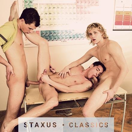 Staxus Classic: Bareback Frat Pack - Scene 7 - Remastered in HD