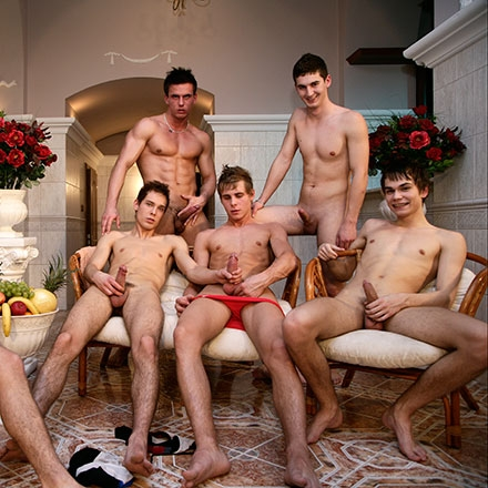 Awesome group jerk-off!!