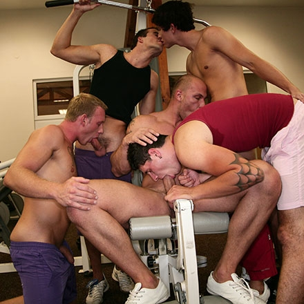 Group session down at the gym