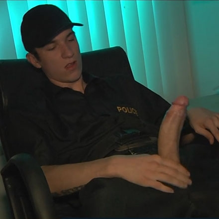 Caleb Moreton's Monster Cock Gives Up Another Sticky Load Of Hot Jizz!