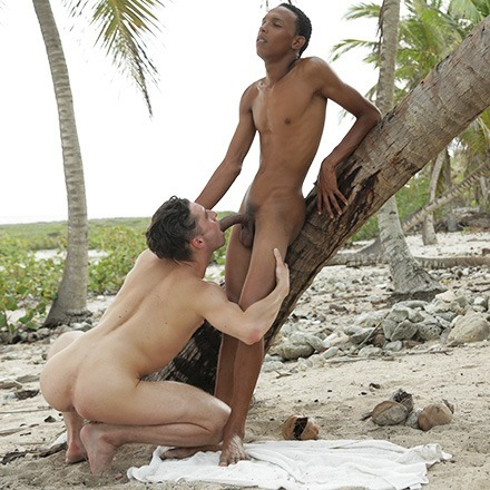 Life's A Beach For Horny Johny Cruz, As He Gets A Monster Black Dick Imbedded In His Ass! HD