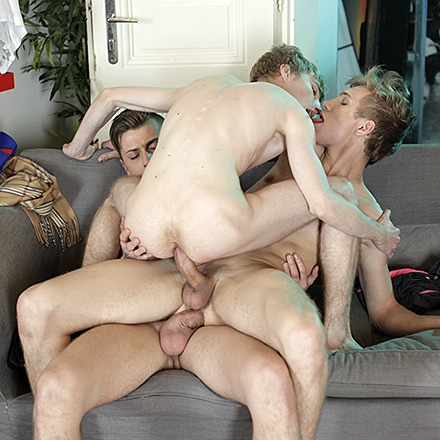 Two Horny Twink Fuckers Run To Sven Laarson's Flat For A Kinky, Cum-Soaked Threeway! HD