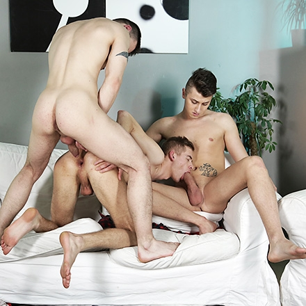 New Boy Gets His Arse Split & His Face Creamed By His Buddies! (Cum With Me Scene #3) HD
