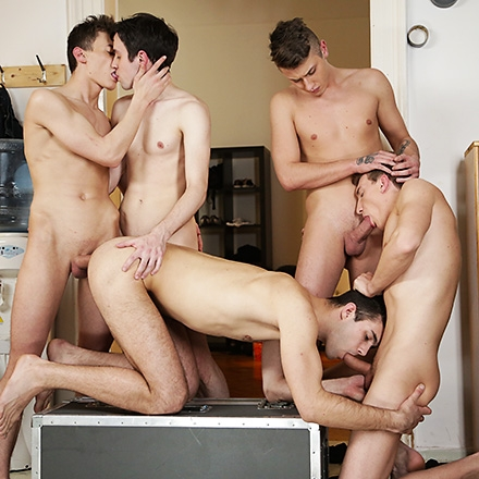 Sam Williams Gets Used Like A Fuck Rag By His Horny Buddies! (Cum with me Scene #4) HD