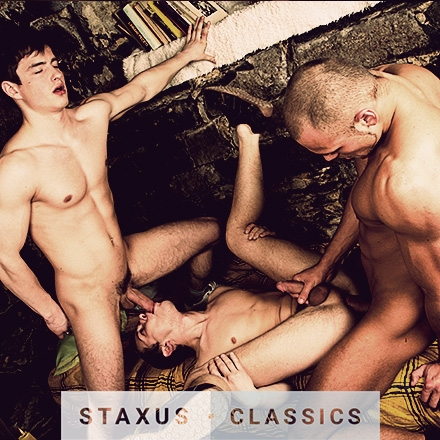 Staxus Classic: Bareback Cock Riders - Scene 4 - Remastered in HD