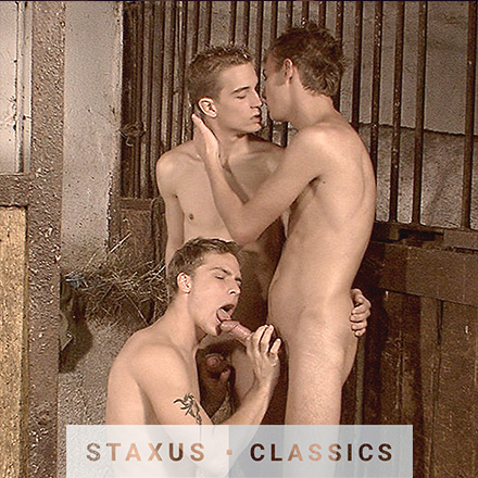 Staxus Classic: Bareback Twink Ranch - Scene 4 - Remastered in HD