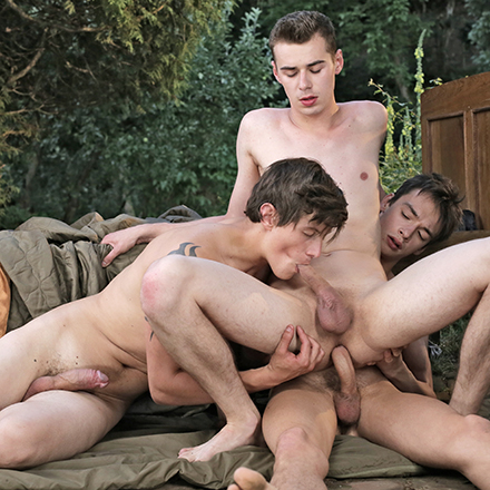 Police Action, Sc.1: Hooded Cops Give Horny Twink A Hot Spit-Roast & A Jizzy Facial! HD