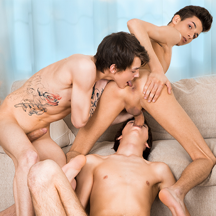 Triple Whammy, Sc.1: Young Fucker Has A Whale Of A Time In A Double-Dicked Ride! HD